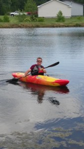 Kayaking on the pond