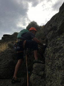 Climbing to the summit