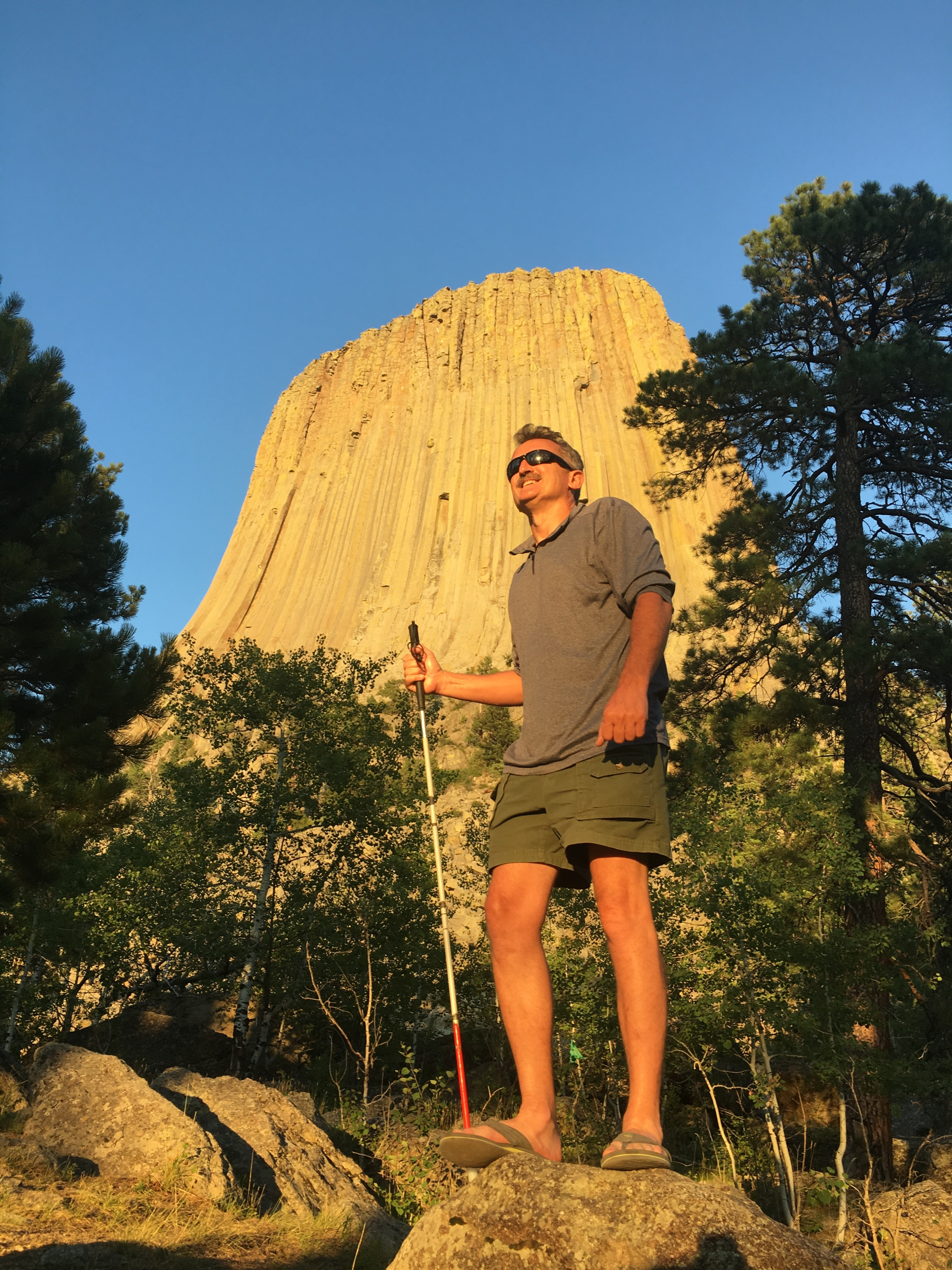 Standing in front of Devil's Tower